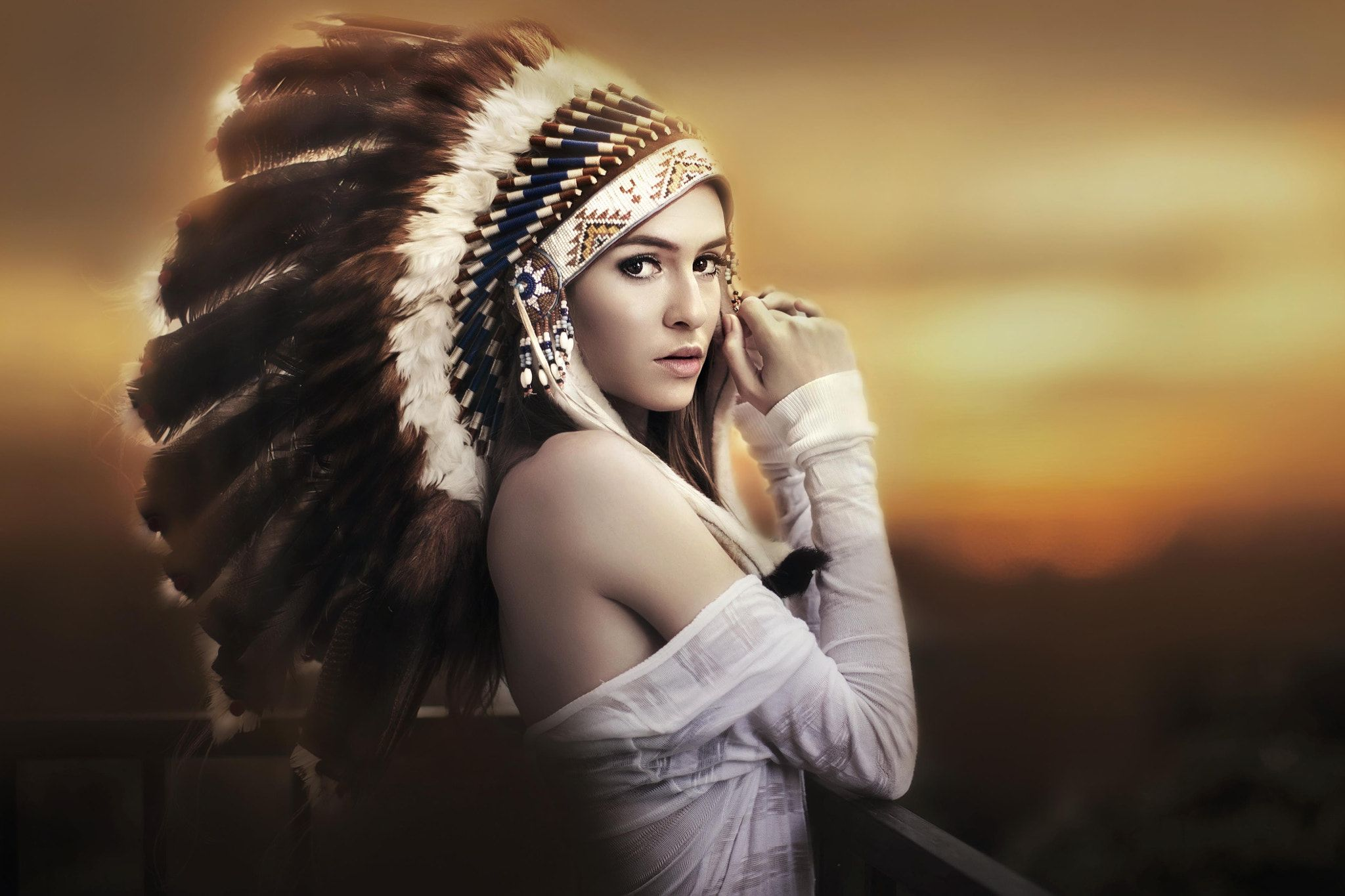 Lonely Indian - null | Native american photoshoot, Native