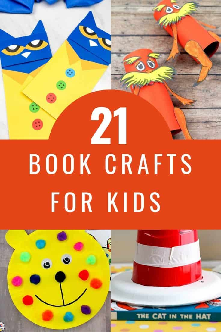 21 Children S Book Themed Crafts For Kids In 2020 Book Themed Crafts Book Crafts Book Themed Activities