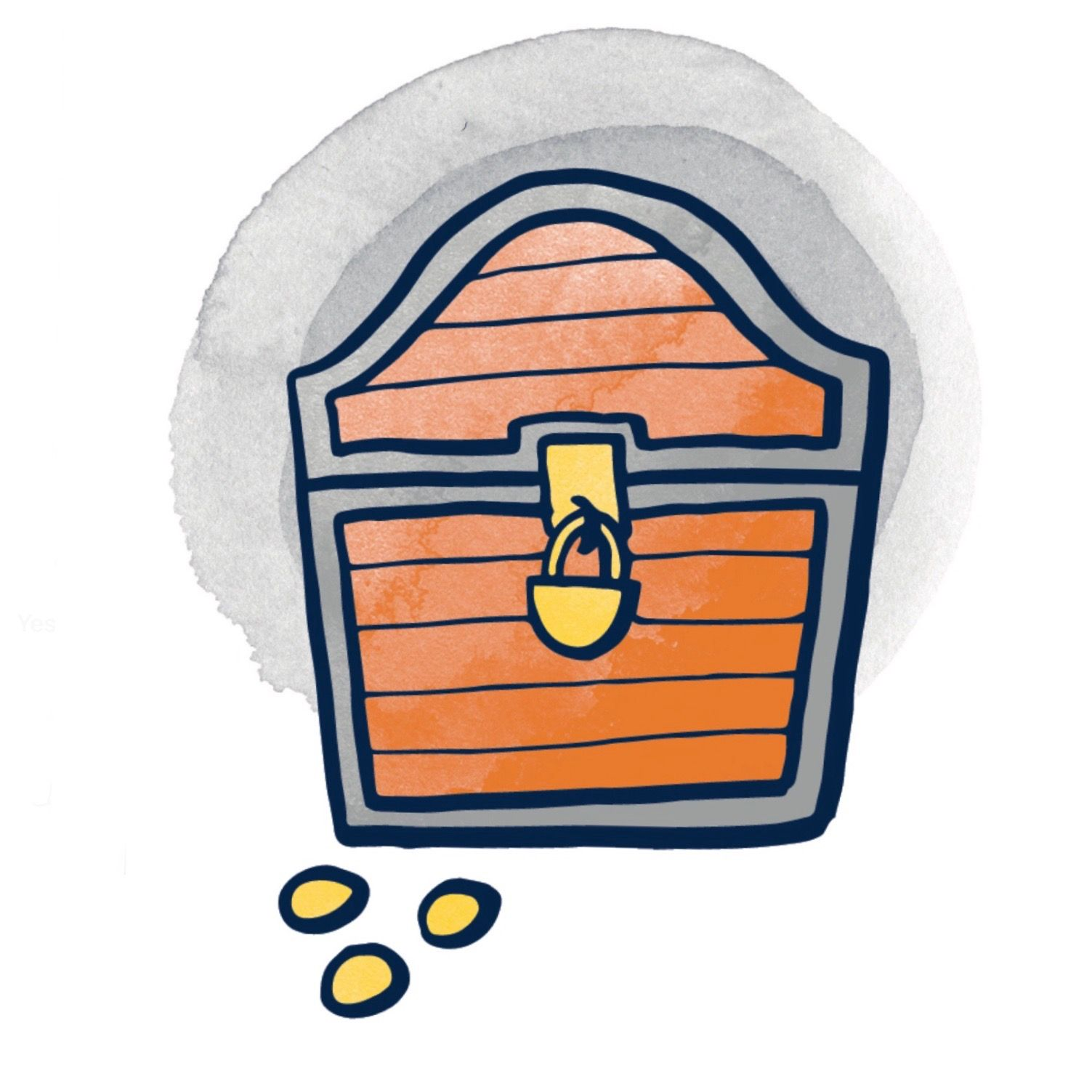 Treasure chest illustration for pirate theme card in story dealer treasure chest illustration for pirate theme card in story dealer card game for creative thinking publicscrutiny Image collections