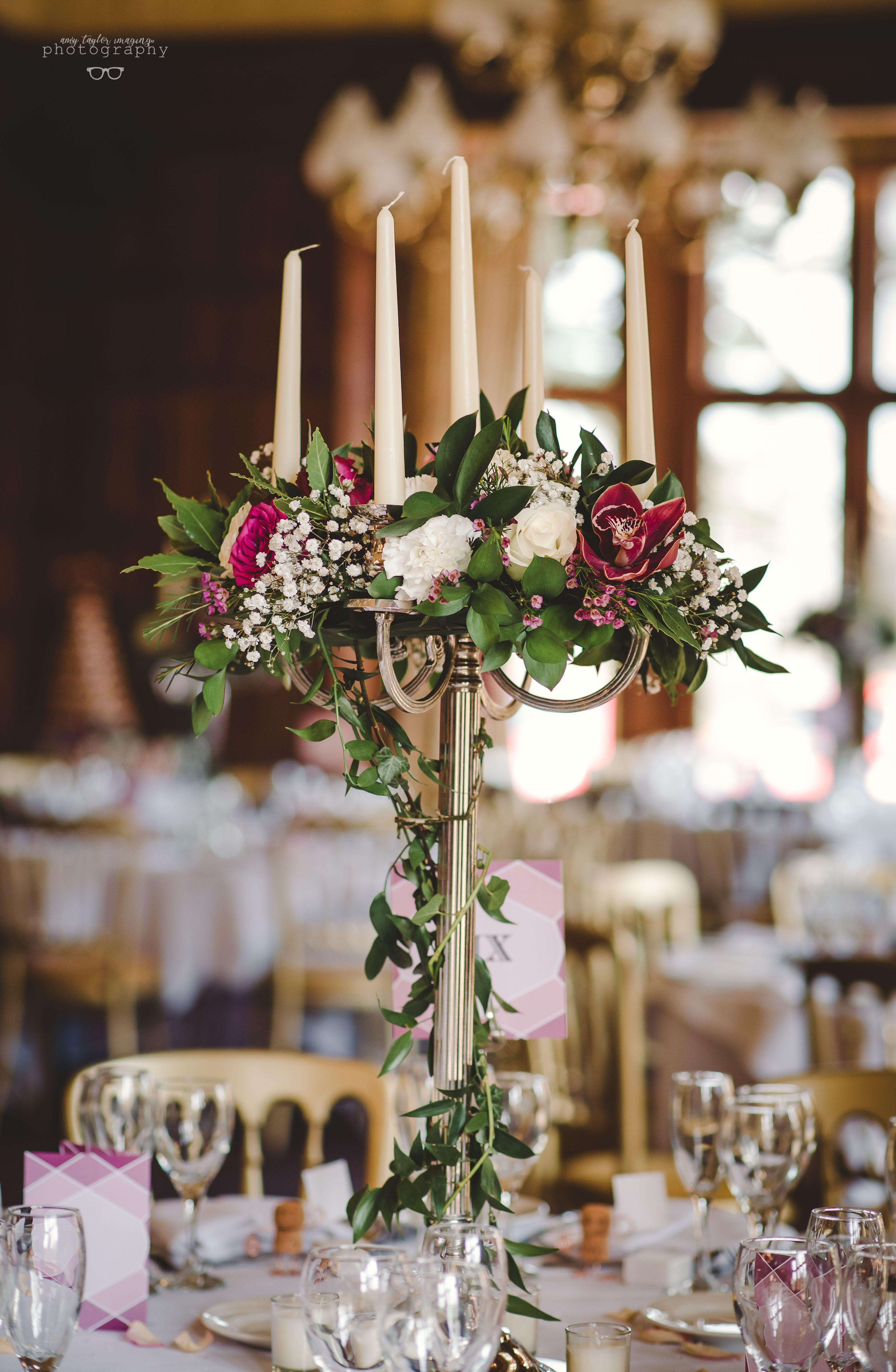 A Stunning Floral Candelabra Centrepiece Candelabra Wedding Candelabra Wedding Centerpieces Candleabra Wedding Centerpieces