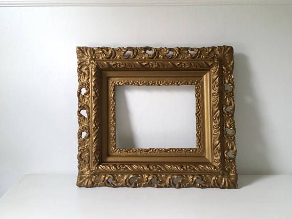 Antique Gold Frame Large Ornate Wood Frame Vintage Frame