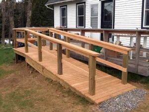 Ramp 2 With A Switch Back Or Turn Wheelchair Outdoor