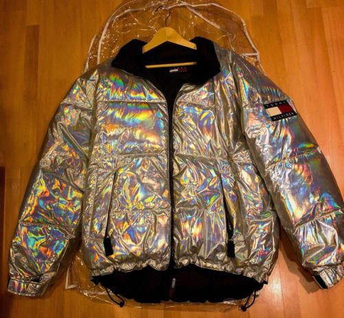 6ab4204a4 Institute for Y2K Aesthetics — Holographic Tommy Hilfiger puffer jacket  found on.