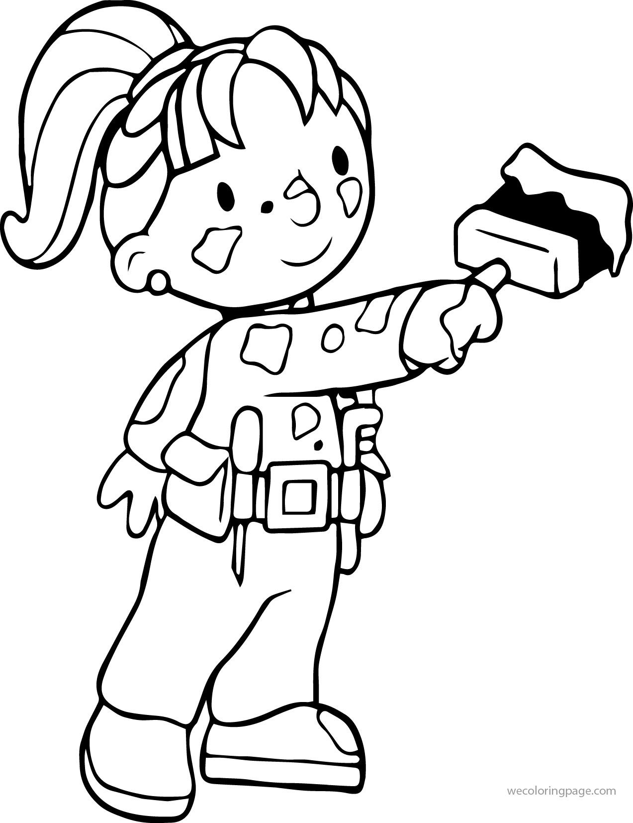 Awesome Bob The Builder Wendy Coloring Page Colorir Profissoes Bordado