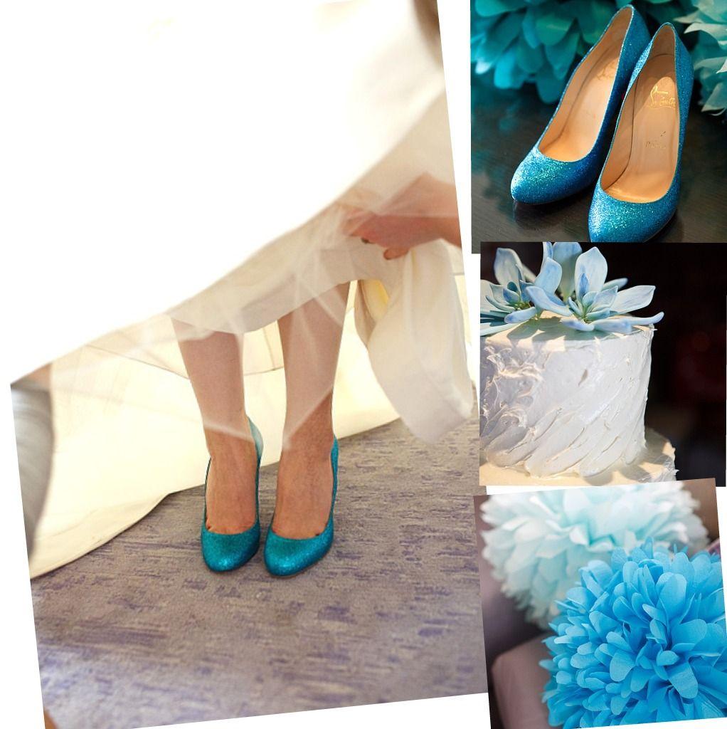 Bridal Shoe 1 Pretty Color Scheme 2 Those Are Louboutins Love