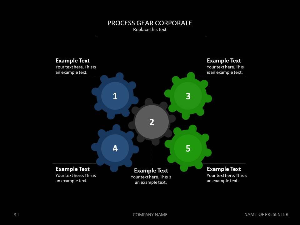 Process Gear Corporate Templates Powerpoint Presentationdesign