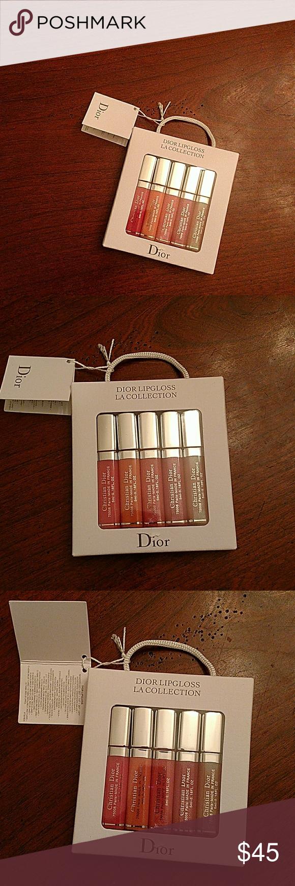 Dior lipgloss la collection Paris- France set of 5 Dior la collection lipgloss Smollet size.5ml-0.16FL.oz Dior Makeup Lipstick