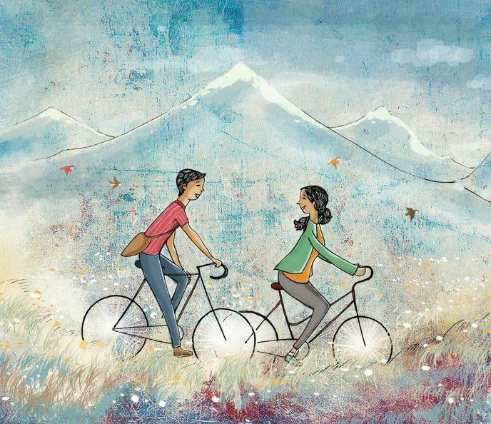 Romantic Couple in 2020 Illustration, Illustration art