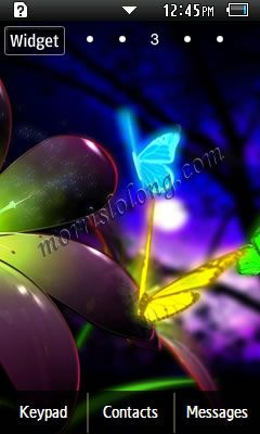 Gt S5260 Beautiful Night Butterflies Samsung Themes Free Download