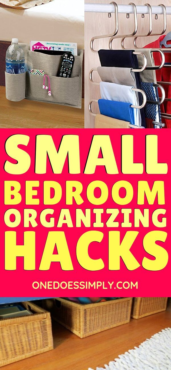11+ Genius Organization Hacks for Tiny Bedroom #storagesolutions