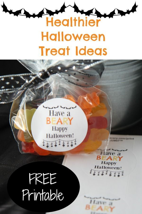 Healthier Halloween Treat Ideas + Free \ - halloween treat ideas