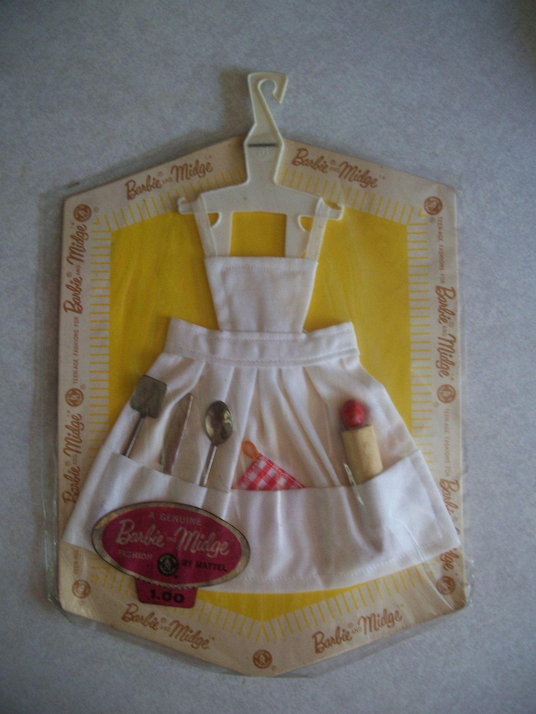 White apron etsy - Rare Vintage Barbie Fashion Pak White Apron W Utensils Never Opened Via
