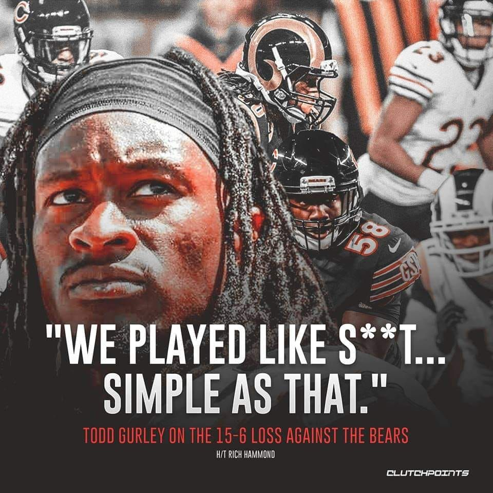 Don Lichterman Both Don Lichterman And Todd Gurley Ii Make No Bones About How The Rams Played Like S T Vs Chicago Bears Todd Gurley Jeff Fisher Krav Maga
