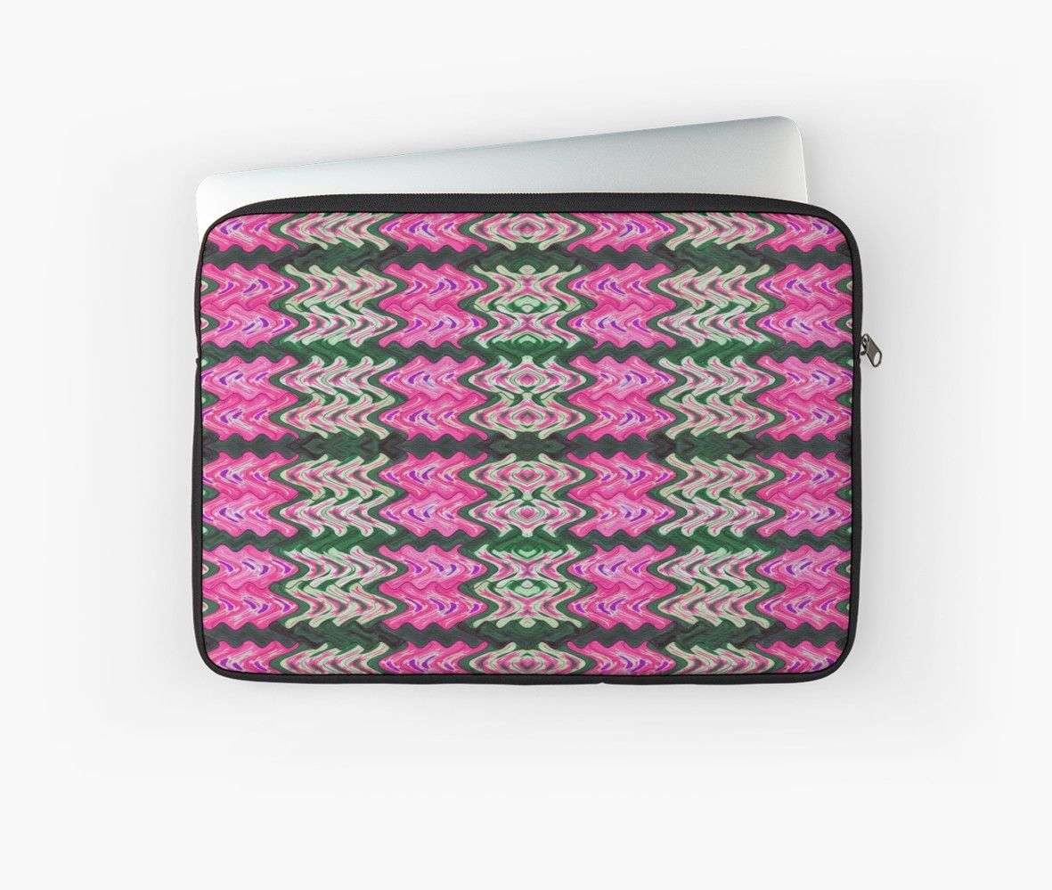 Laptop Sleeve Pink Green Tiled Pattern #redbubble #electronics #laptops #gifts http://www.redbubble.com/people/donnagrayson/works/22881700-pink-green-tiled-pattern?asc=t&p=laptop-sleeve