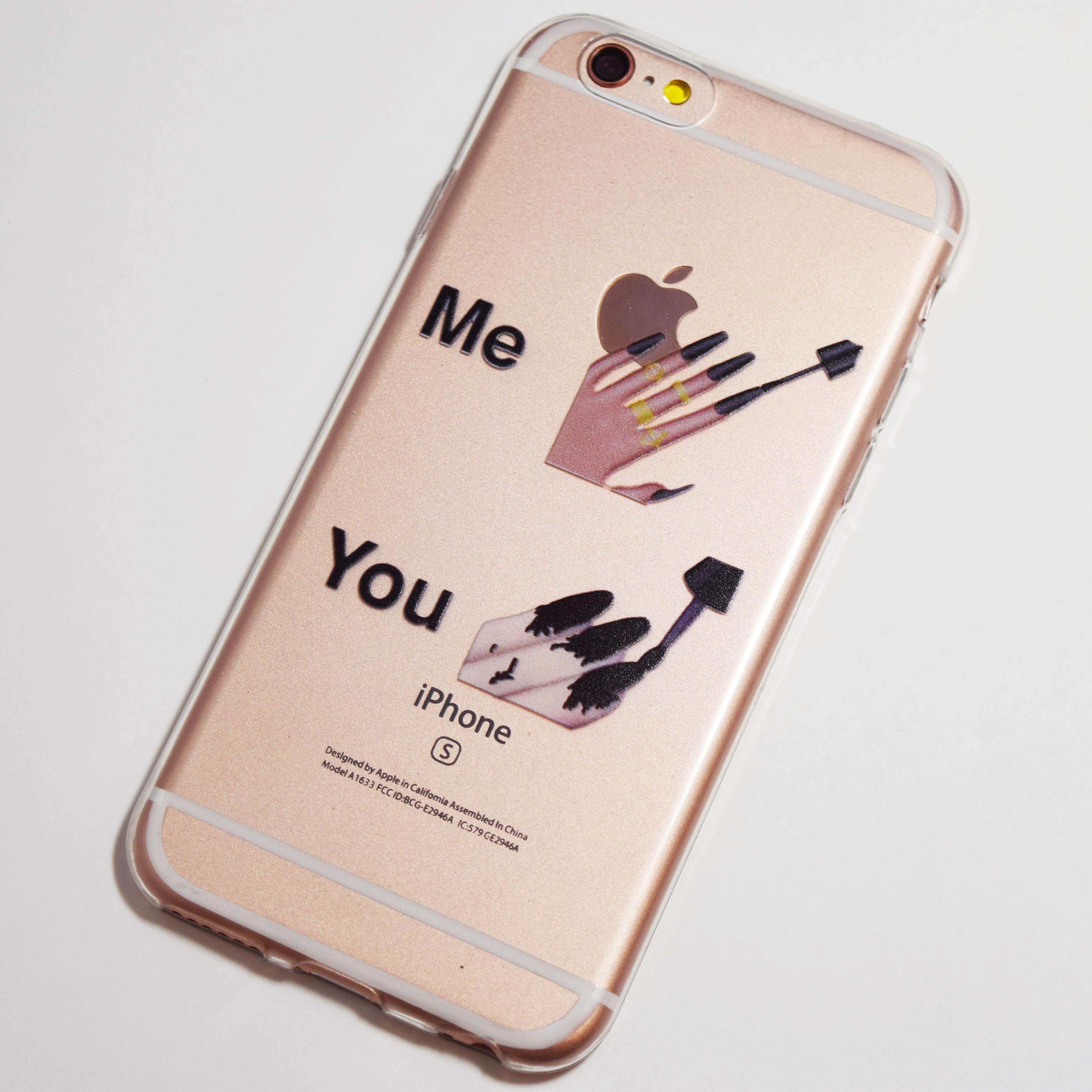 Me vs You Nail Polish Emoji iPhone 6 / 6S Soft Case | General ...