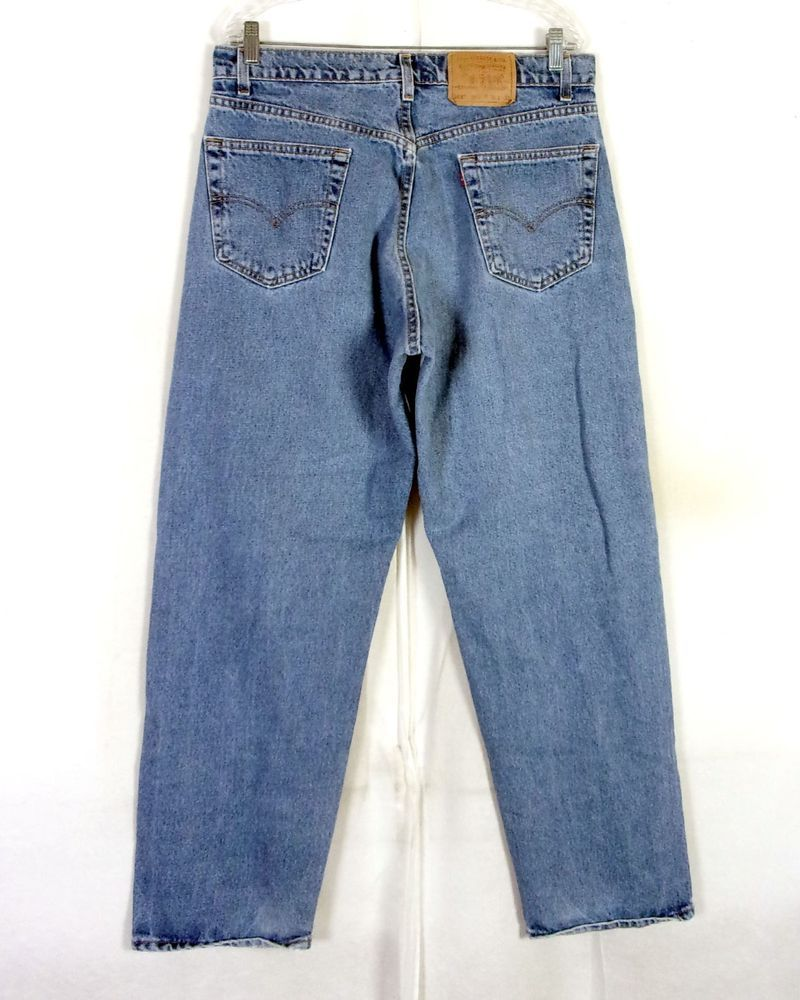 79773329c4d vtg 80s 90s Levis 565 Men's Relaxed Fit Wide Leg USA Made Denim Jeans 35 X  32