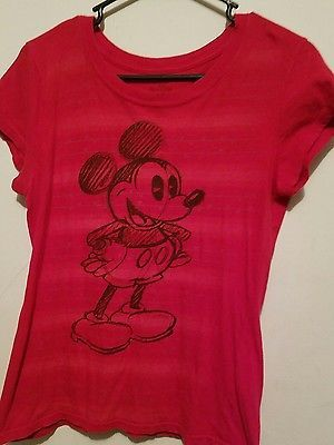 Mickey Mouse Junior Shirt Red The Wonderful World of Disney