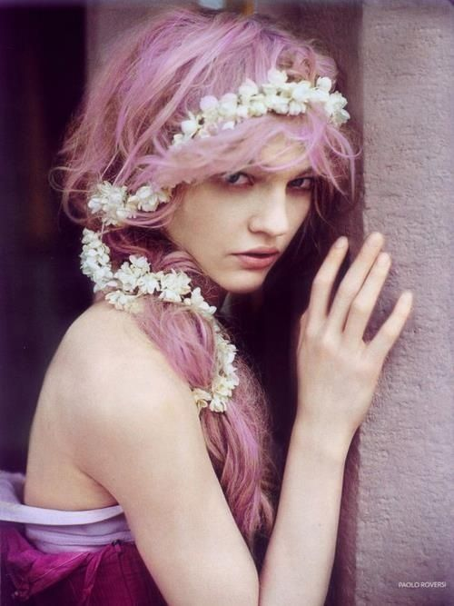 Lovely! sweet pink hair color