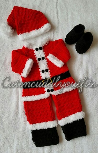 5274049a9 Santa Suit pattern by Aradhna Shukla | crochet stuff | Santa suits ...
