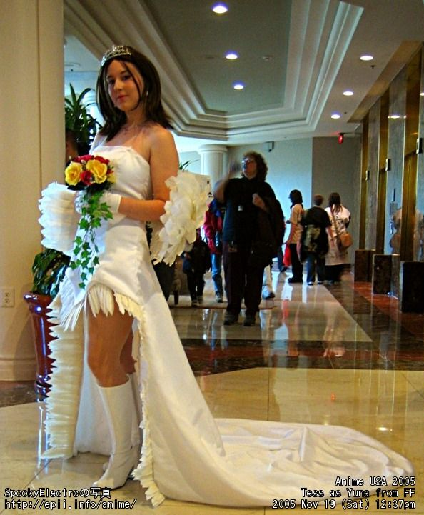 Yuna Cosplay Wedding Dress This Is A Awesome Cosplayert