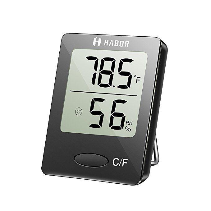 Habor Digital Hygrometer Indoor Thermometer Humidity Gauge Indicatoamazoncom