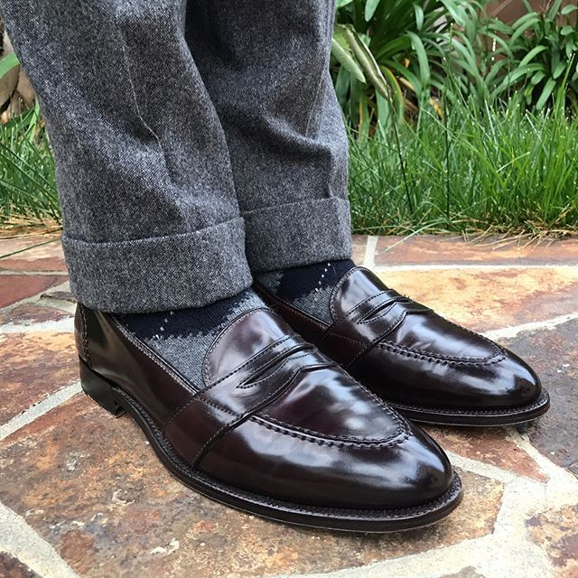 d6425b92f02 mdubsonsf Alden Color 8 Shell Cordovan Full-Strap Loafers. American Trench  Gray-Navy-Purple Cashmere Blend Argyles OTC. Epaulet Salt and Pepper  Donegal ...