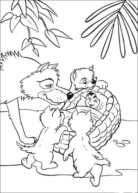 Junglebogen Tegninger til Farvelægning 52