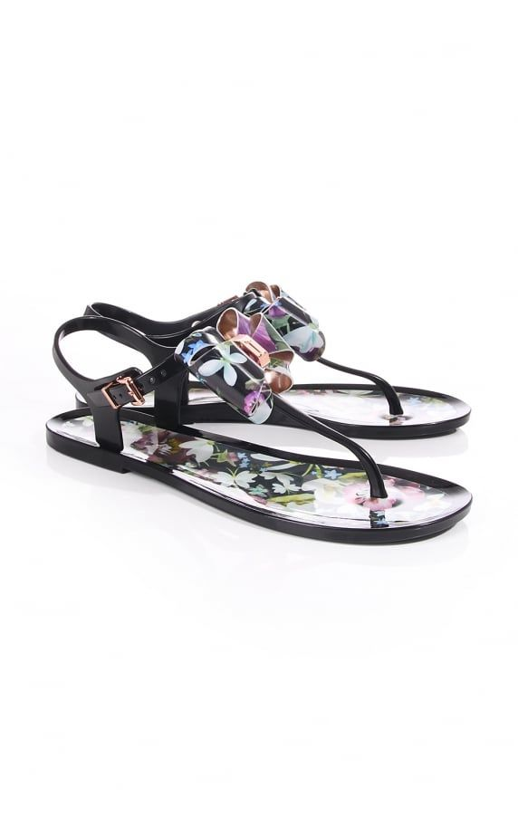 bbac68362580 Ted Baker Womens Effiey Entangled Enchantment Flip Flop Purple ...