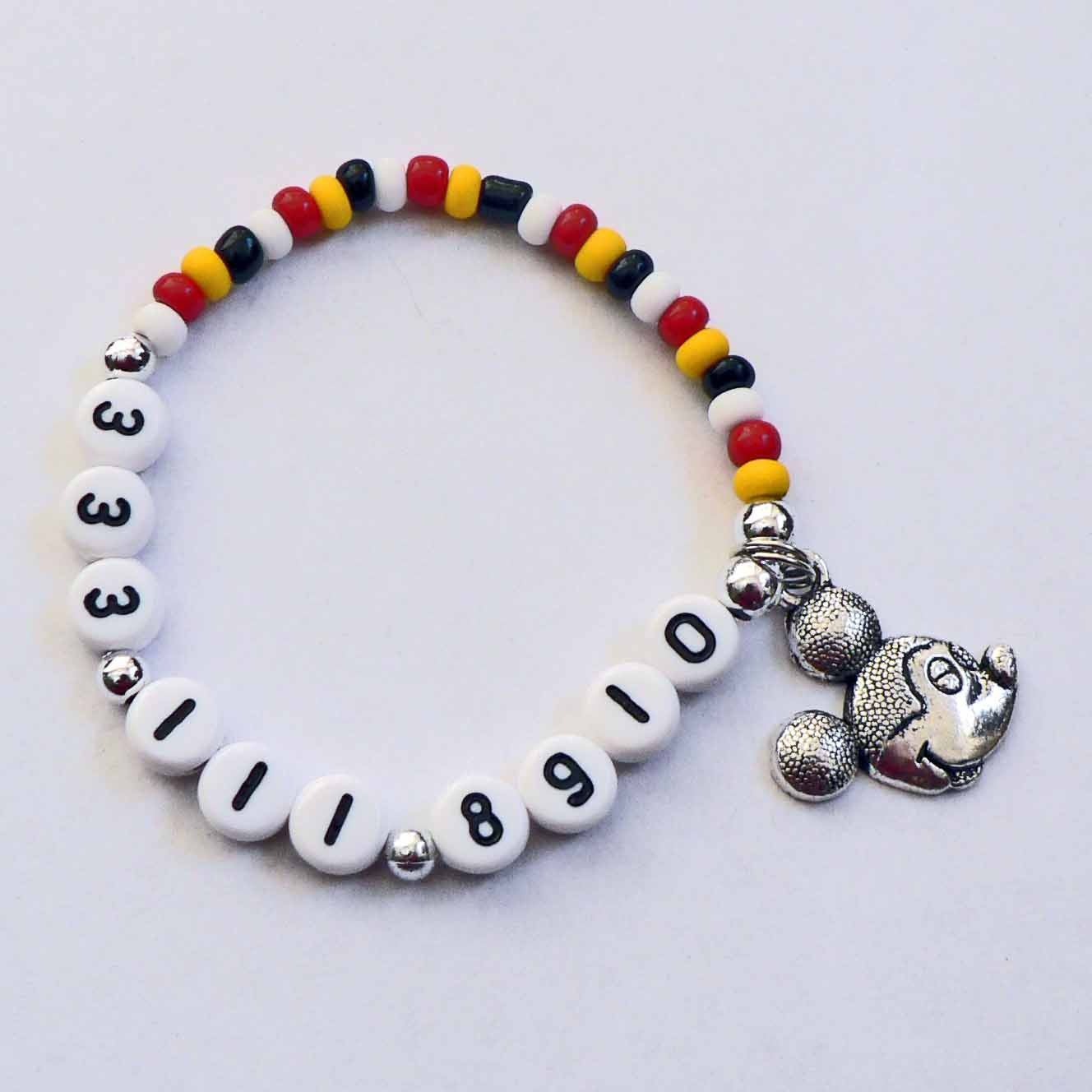 Mickey Mouse Jewelry Name Bracelet For Boys Or By Stargazinglily
