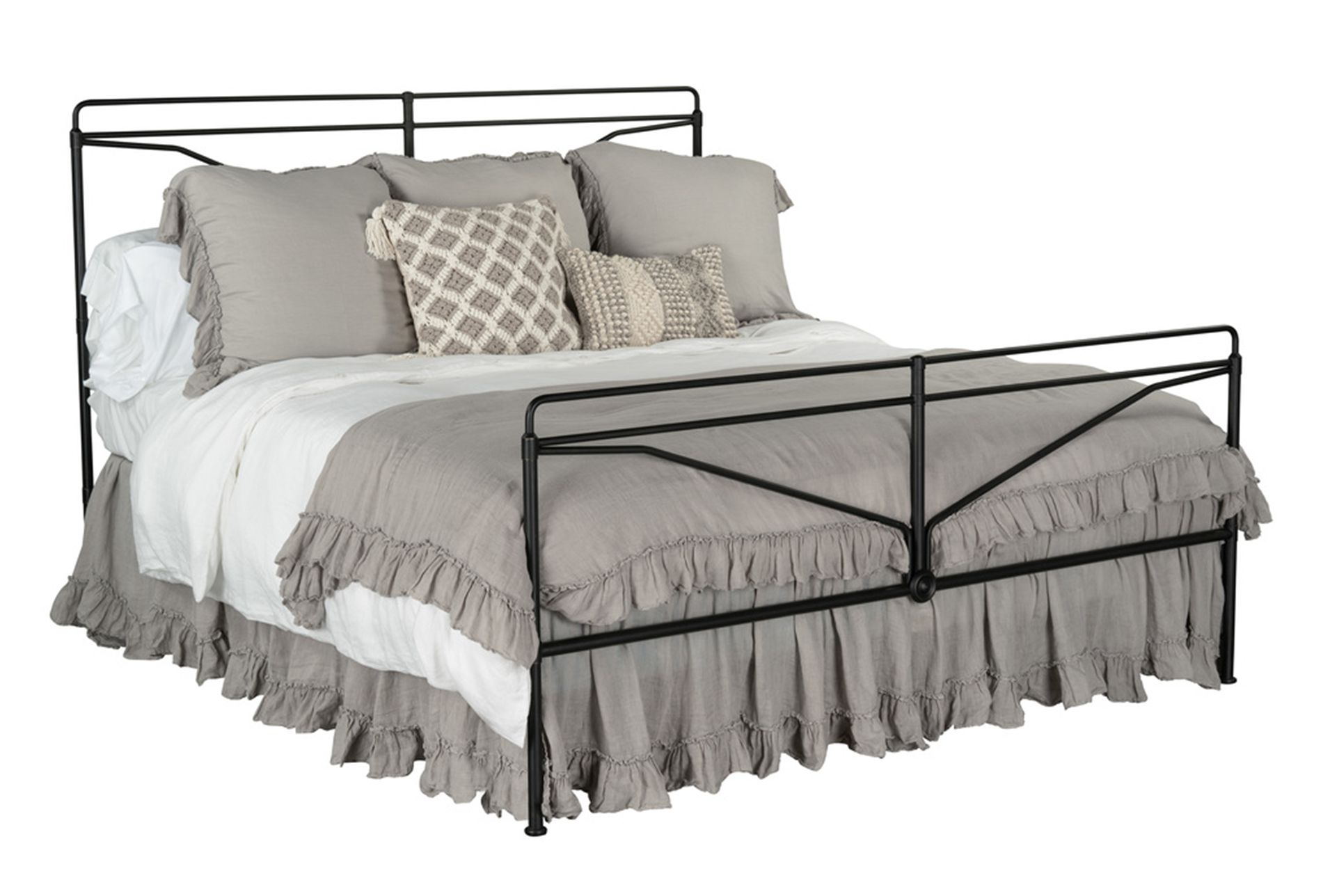 Magnolia Home Laverty Eastern King Metal Bed By Joanna Gaines Queen Metal Bed King Metal Bed Magnolia Homes