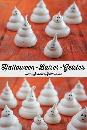 Halloween-Baiser-Geister - Süßes oder Saures - Schnin's Kitchen #halloweencupcakes