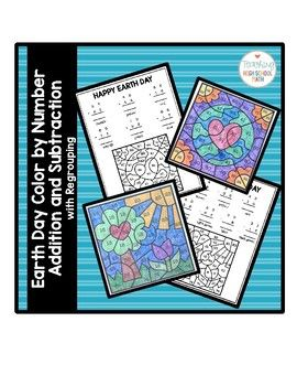 This is an activity that students can use to practice adding and subtracting two digit numbers with regrouping.  The theme of this puzzle is Earth Day, although it could be used any time of year.  Students solve the 6 or 7 problems and then color the picture according to the given code.
