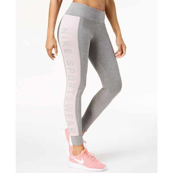 8997504bcf4d5a Nike Sportswear Essential High-Rise Leggings ($60) ❤ liked on Polyvore  featuring pants, leggings, high waisted leggings, wide-waistband leggings,  nike, ...