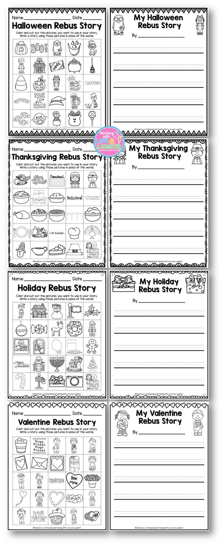 worksheet Rebus Story Worksheets holiday rebus stories students create a story using words and pictures an example is