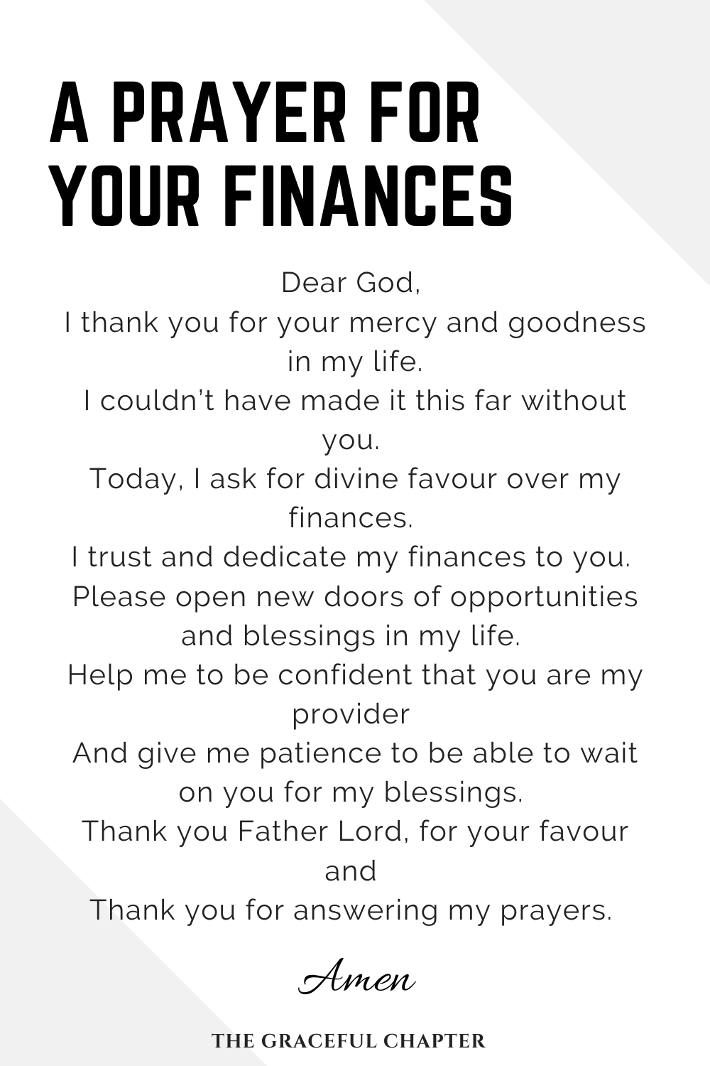 3 Prayers For Financial Breakthrough - The Graceful Chapter