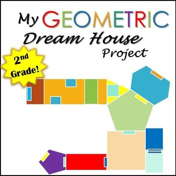 Geometry Project Dream House- 2nd Grade - Common Core | Math, Common ...