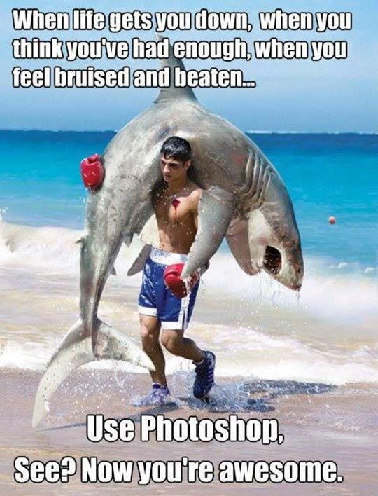 When Life Gets You Down Use Photoshop Quotes Pinterest Funny