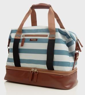 Midway Weekender Bag, Blue Stripe