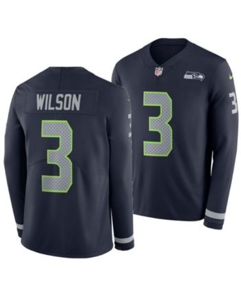 new arrivals b9d12 1b918 Nike Men Russell Wilson Seattle Seahawks Therma Jersey in ...