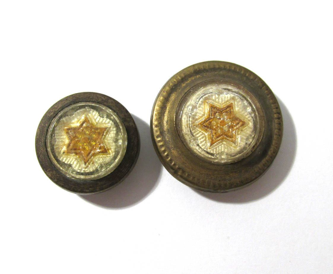Victorian Nail Covers Decorative Yellow Stars Two (2) Glass and ...
