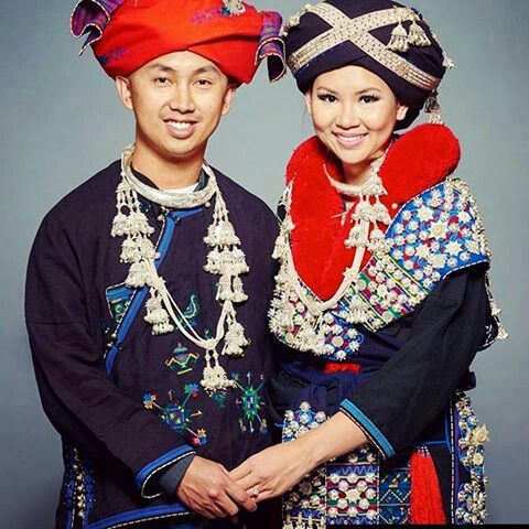 Mien Couple Lover And Custume Traditional Outfits Hmong Fashion Couple Outfits