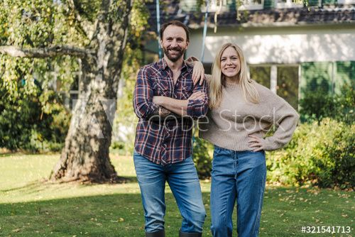 Proud home owners standing in their garden , #affiliate, #home, #Proud, #owners, #garden, #standing #Ad