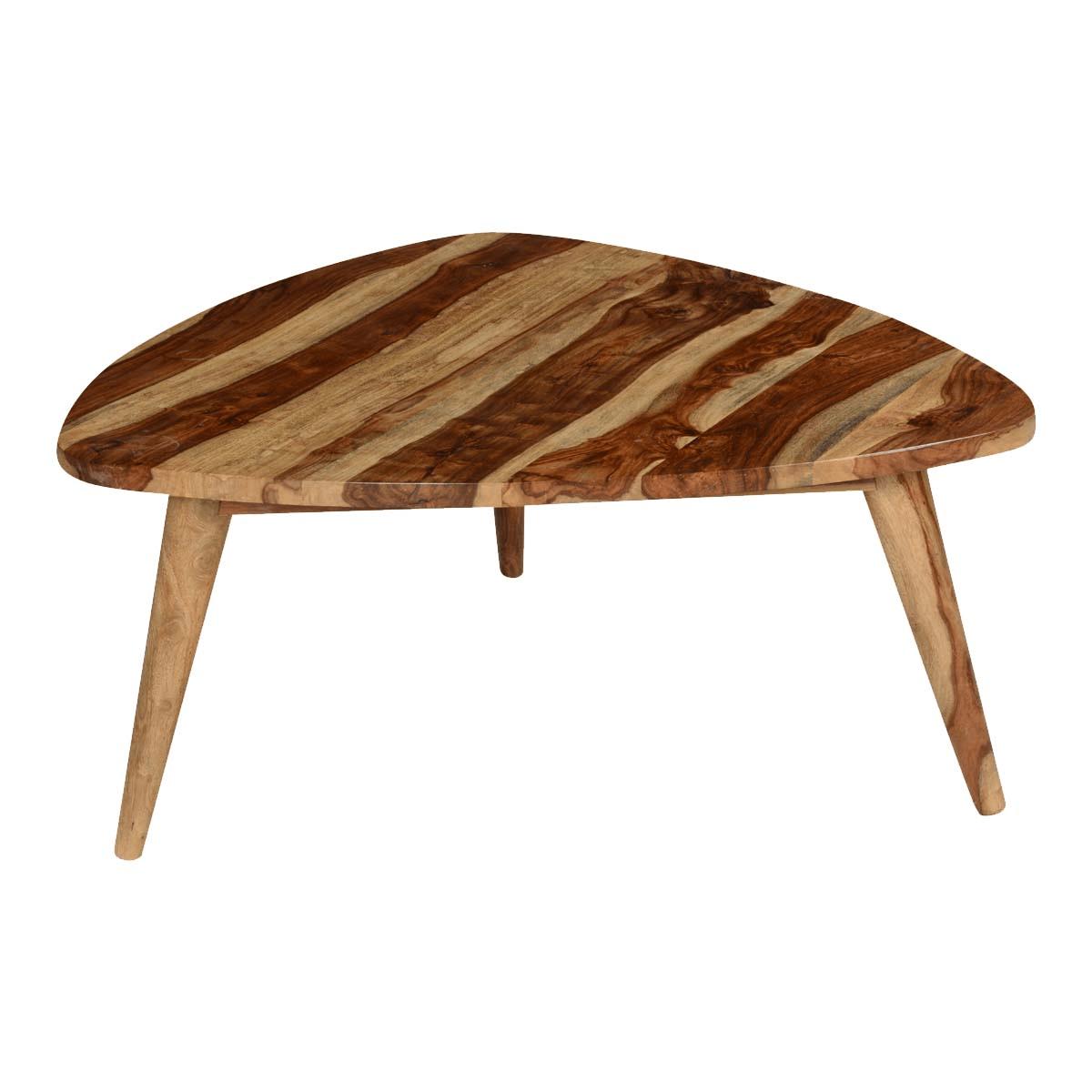 Triangular Coffee Table For Unique Small Living Room Design Ideas
