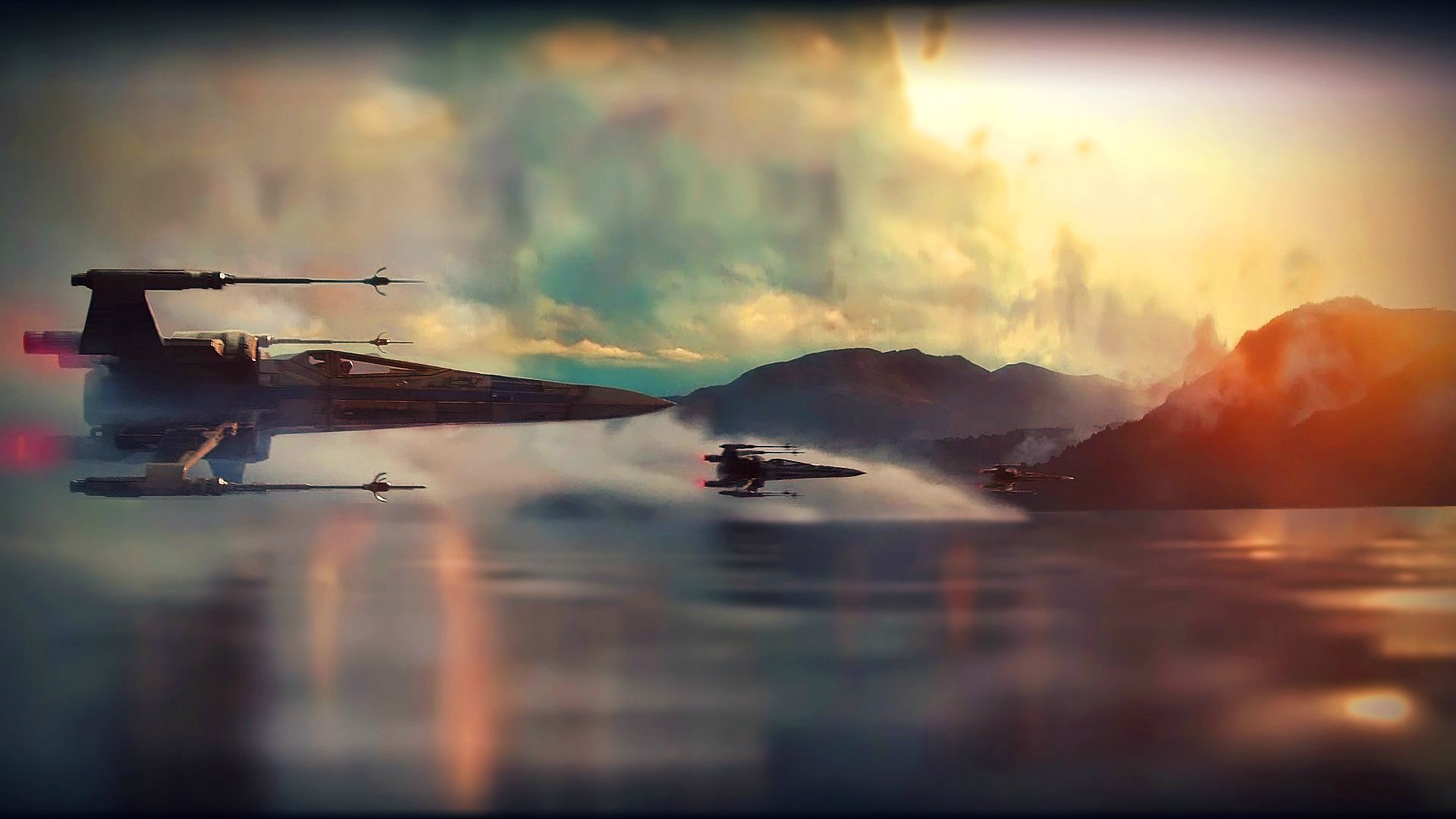flying sky jet movie star wars the force awaken wallpaper hd | han