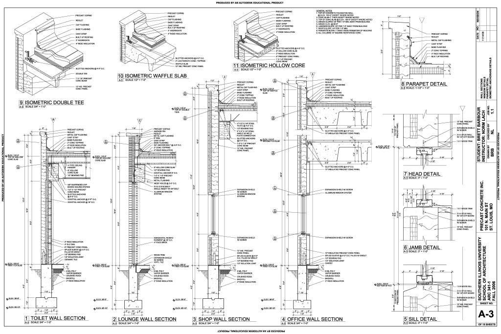Technical Precast Concrete Concrete Column Construction Drawings