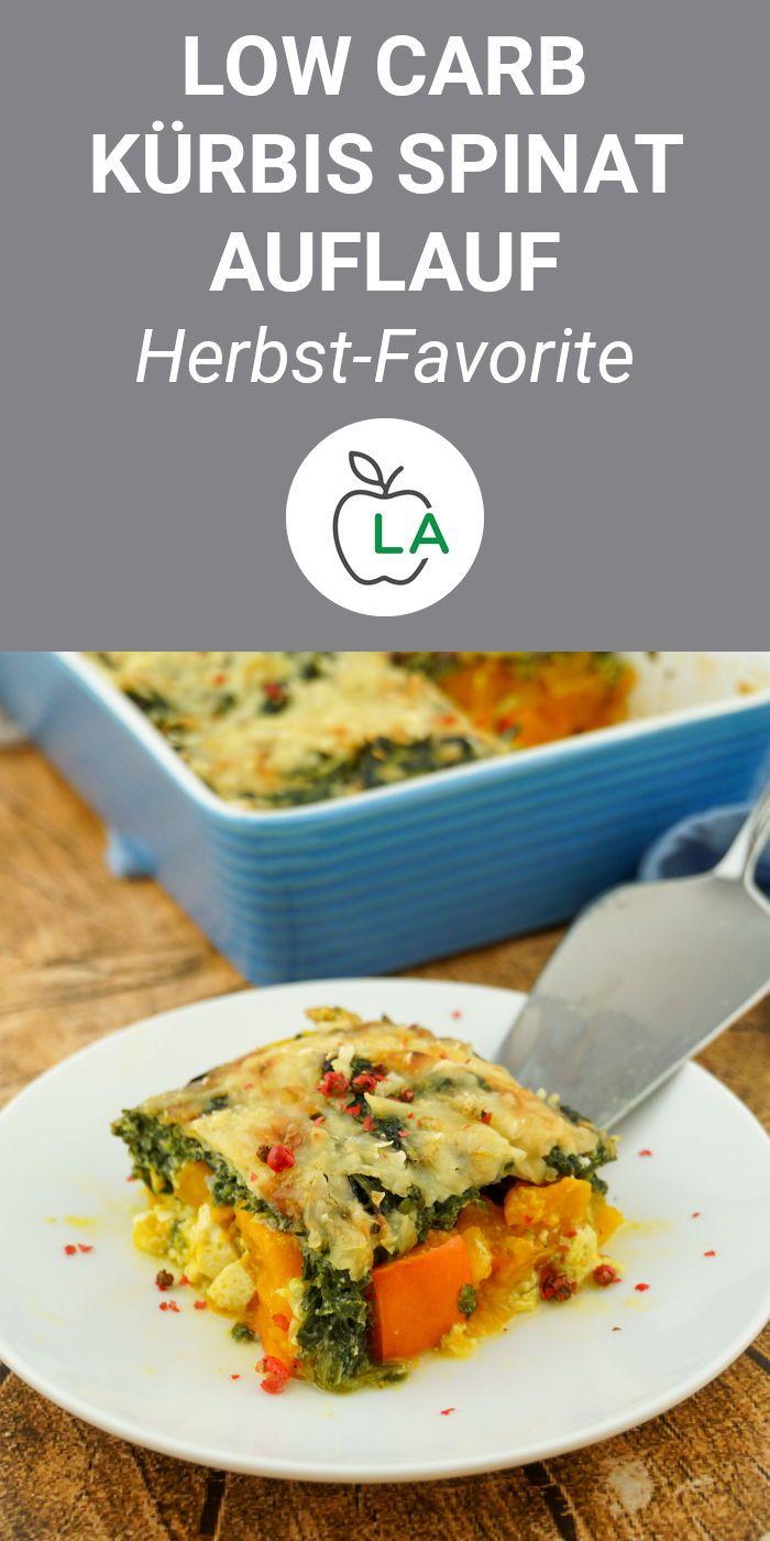 Low Carb Kürbis Spinat Auflauf - Vegetarisches Rezept zum Abnehmen #lowcarbveggies