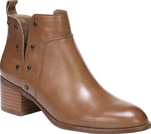 Franco Sarto Richland Ankle Bootie in Whiskey Bally Leather