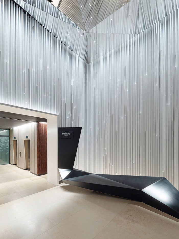 Ippolito Fleitz Designs Sculptural Lobby Lobby Design
