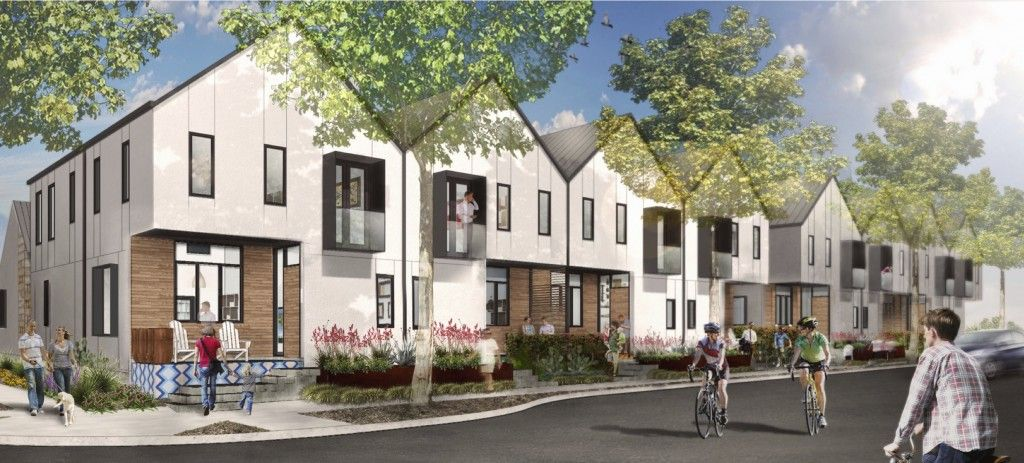 For sale modern row home at mueller austin mueller for Contemporary homes for sale in austin