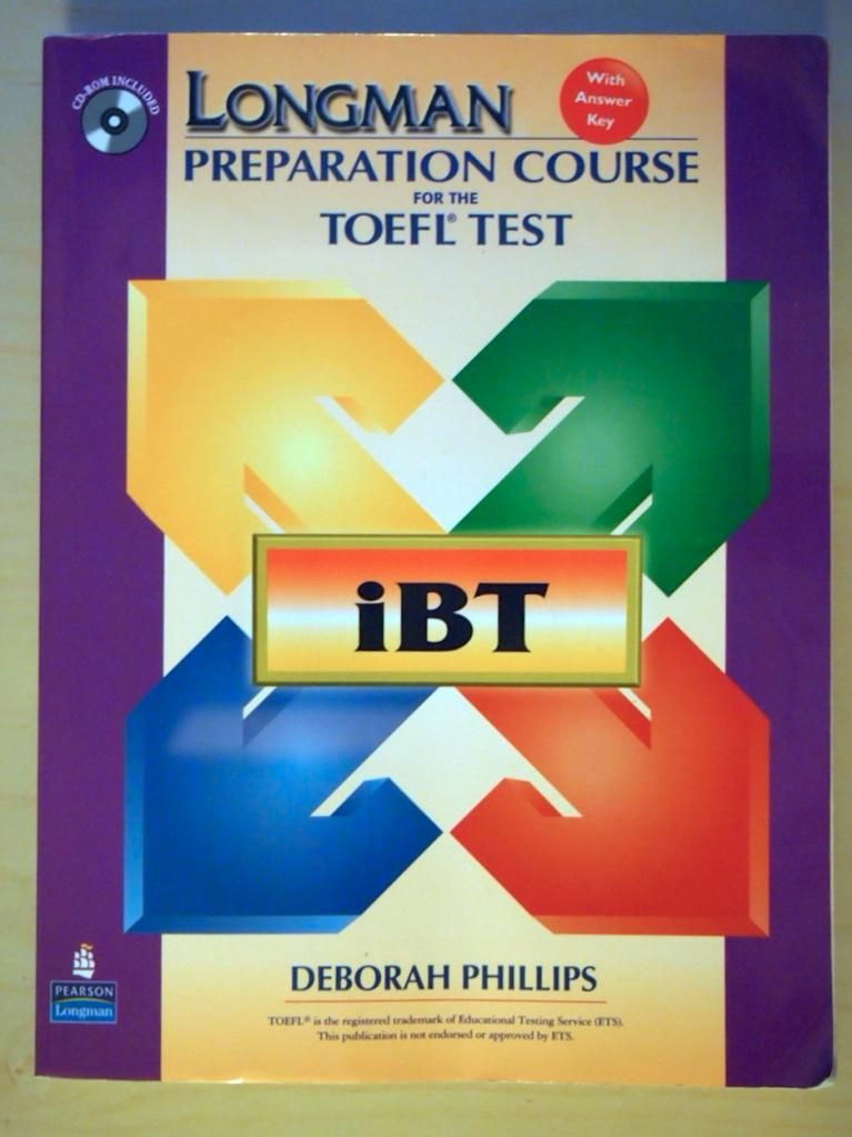 Book longman student ibt test preparation for course toefl the